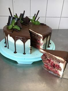 {Rezept} After-Eight - Himbeer - Schokoladen - Dripcake