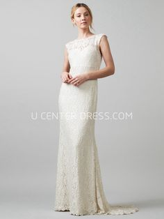 8dcdb9d45fcd US$108.89-Jewel Maxi Appliqued Lace Wedding Dress under $200 #affordable # 200 #