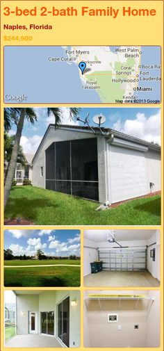 3-bed 2-bath Family Home in Naples, Florida ►$244,900 #PropertyForSale #RealEstate #Florida http://florida-magic.com/properties/18387-family-home-for-sale-in-naples-florida-with-3-bedroom-2-bathroom