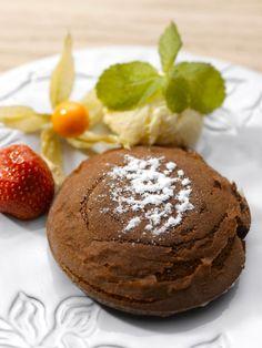 Chocolate volcan with vanilla ice-cream