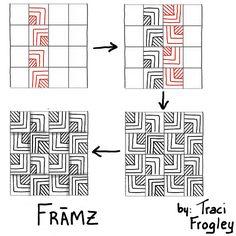 42 Best Zentangle Patterns Grid Based Images