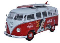 Blend two greats with this amazing scale diecast Coca Cola VW Camper Van Volkswagen Bus, Vw Camper, Pop Drink, Citroen H Van, Volkswagon Van, Coca Cola Decor, Coca Cola Polar Bear, Vintage Coke, Soda Fountain