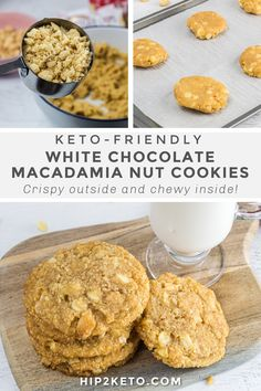 Sugar Free Desserts, Keto Desserts, Keto Snacks, Paleo Dessert, Dessert Recipes, Macadamia Nut Cookies, White Chocolate Macadamia, High Carb Foods, Recipe Creator