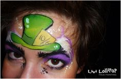 mad hatter face paint