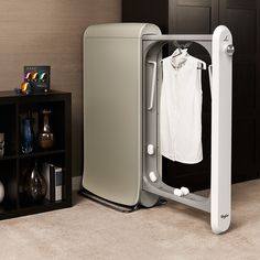 SWASH™ Express Clothing Care System | Bloomingdale's. An at-home dry-cleaning machine. About the size of a large garment bag, it fits snugly in your closet or bedroom and cleans soiled clothes in only ten minutes.