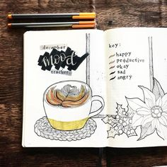 """2,320 Likes, 16 Comments - Notebook Therapy (@notebook_therapy) on Instagram: """"This mood tracker is amazingly original, wow! ☕️ @bujowithbecky"""""""