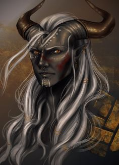 Dragon Age - Qunari Inquisitor Noam by YoungGirlBlues