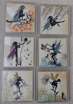 Lavinia Stamps Cards, Atc Cards, Fairy Silhouette, Fairy Paintings, Alcohol Ink Crafts, Handmade Tags, Fairy Art, Tampons, Art Plastique
