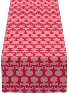 APHROCHIC(RED) Silhouette Table Runner Holiday Gift Guide, Holiday Gifts, Table Runners, Ottoman, Artisan, Silhouette, Creative, Red, Home Decor