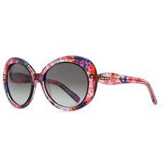 kate spade new york doriane watercolor round sunglasses, pink/multicolor