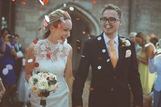Modern Vintage Weddings ~ great neckline in sheer lace