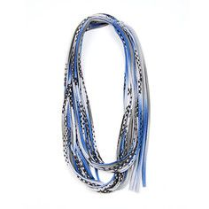 Fabric Necklace Gray, $29, now featured on Fab.