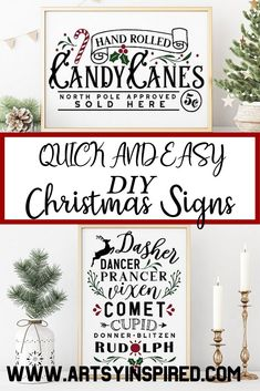The best DIY Christmas sign design ideas. Over 40 examples for DIY holiday sign crafts. Plus the where to find FREE and cheap cut files for holiday poster projects with commercial use. Holiday Fonts, Christmas Fonts, Christmas Signs Wood, Holiday Signs, Christmas Projects, Holiday Crafts, Christmas Crafts, Holiday Decor, Christmas Ideas