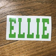 Vinyl Name Decal Personalized Decal for Car, Yeti, Computer or school supplies.  Starting at $2.50