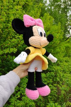 MINNIE MOUSE amigurumi crochet pattern, Disney Crochet pattern, Stuff Toy tutorial, Digital Download