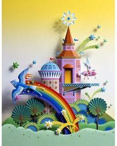 Paper sculpture by Hideharu Naitoh♥ 3d Paper Art, Origami Paper Art, Paper Artwork, Paper Artist, Paper Quilling, Paper Drawing, Kirigami, Paper Cutting, Cut Paper
