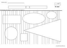 Lignes verticales délimitées par des figures géométriques