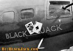 "B-17 Flying Fortress - ""Black Jack""."