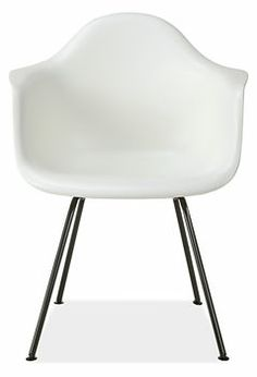 Eames® Molded Plastic Chairs with Black 4-Leg Base - Herman Miller Collection - Dining - Room & Board