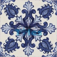 2508 Portuguese handmade majolica tile