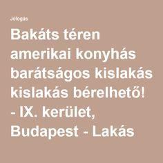 Bakáts téren amerikai konyhás barátságos kislakás bérelhető! - IX. kerület, Budapest - Lakás