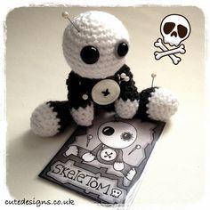Introducing Amigurumi Voodoo Doll - SkeleTom by cutedesigns, via Flickr