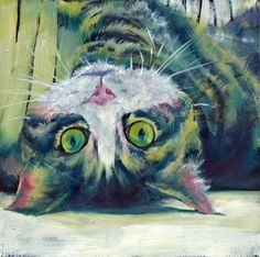 cat original paintings art for sale | Daily Painters Art Gallery