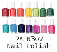 """Rainbow Nail Polish"" by sophiehill2209 on Polyvore featuring Essie"