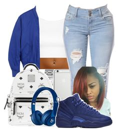 """""""Untitled #32"""" by aaliyaharmstrong ❤ liked on Polyvore featuring Topshop, Calvin Klein, Native Union, Acne Studios, MCM, Beats by Dr. Dre and NIKE"""