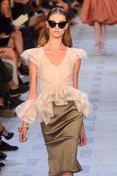 Zac Posen presents Spring 2013 collection at Mercedes-Benz Fashion Week.