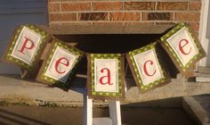 Peace Christmas Banner. $25.00, via Etsy.