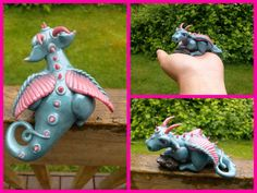 Ooak polymer clay dragon