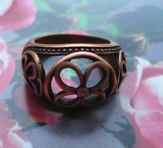 Copper Ring CR2610- Size 10 - 1/2 inch wide.