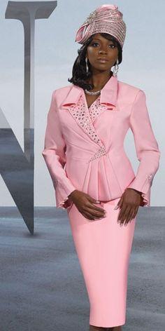 Donna Vinci Womens Silk Look Church Suit