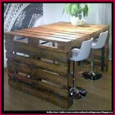 Dollar Store Crafter: Turn Pallets Into A Dining Table