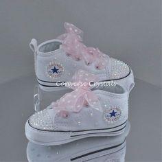 13ad98b67aa8 Baby Custom Crystal  Bling  Crib Converse - Crystal Soles Sizes 1 2 3 4