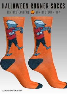 Halloween Running Socks! Runner Zombie! exclusively from goneforarun.com
