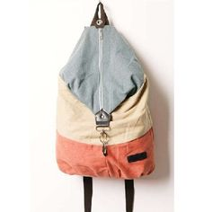 Fashion Casual Design Women Splicing Color Canvas Backpack