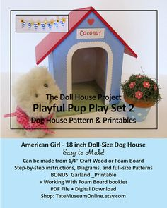 American Girl 18 inch Doll House Playful Pup by TateMuseumOnline