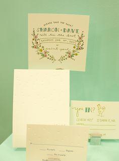 sweet floral invite by Printerette Press