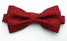 New Red Geometric Mens Bow Tie Adjustable Tuxedo Wedding Fashion Dress Bowtie #TiesJustForYou #NeckTie