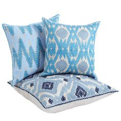 Afghan pillows by John Robshaw - in our favourite colours!! Love...