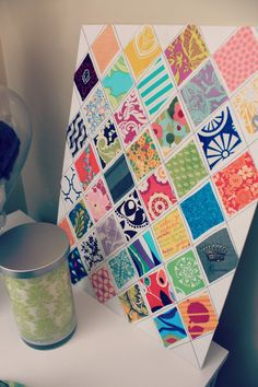 Sew Much Sunshine [to the square inch]: Scrap-buster Fabric Canvas Art: DIY