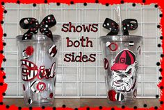 Georgia pride...this would be great for sippin' sweet tea out of while watching football.