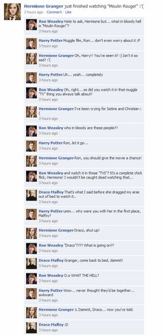 Photo of HP Facebook convos for fans of Harry Potter Vs. Twilight.