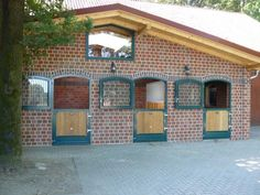 Brick gable stable block, Germany #horse #stable #barn #paard #pferdeboxen #ecurie
