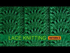 Vidéo en anglais.Fan Flare Stitch | Lace Knitting Pattern #6