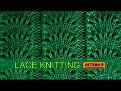 Vidéo en anglais.Fan Flare Stitch   Lace Knitting Pattern #6