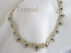 PDF Tutorial beaded necklace Hearts seed beads by BeadsMadness