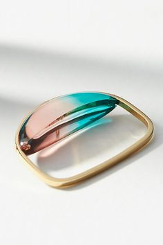 Slide View: 2: Gemology Lucite Double Finger Ring